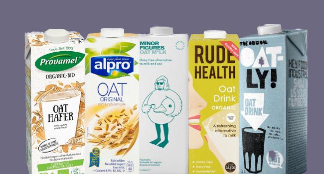 Oat milk cartons