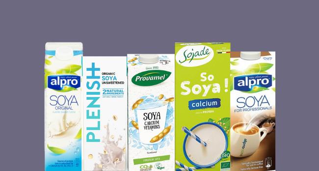 Soya milk cartons