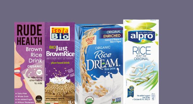 Rice milk drinks