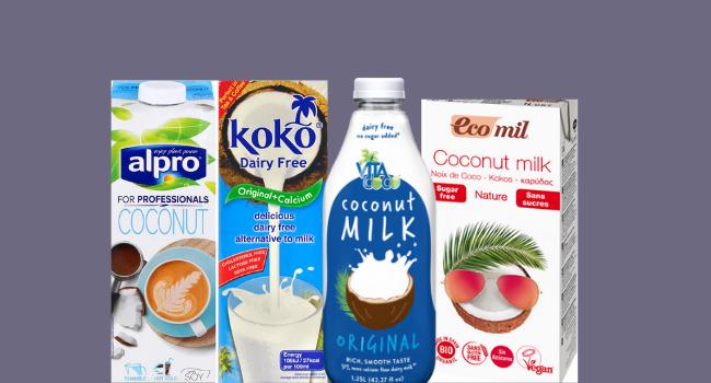 Coconut milk drinks