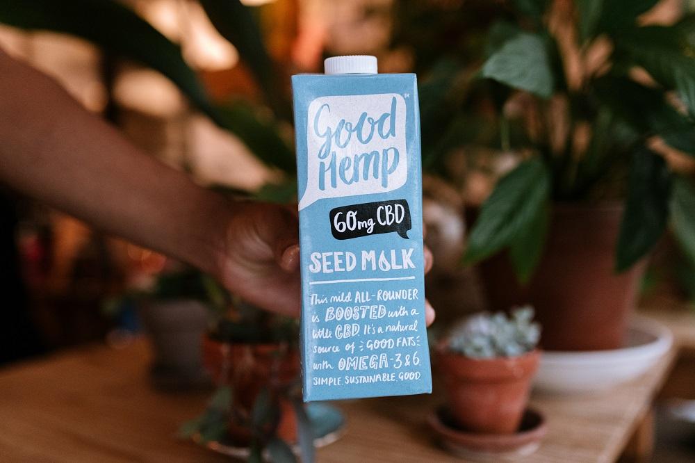 a carton box of Good Hemp CBD milk