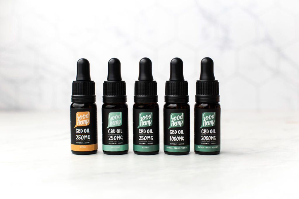 Good Hemp Pure CBD Oil Range